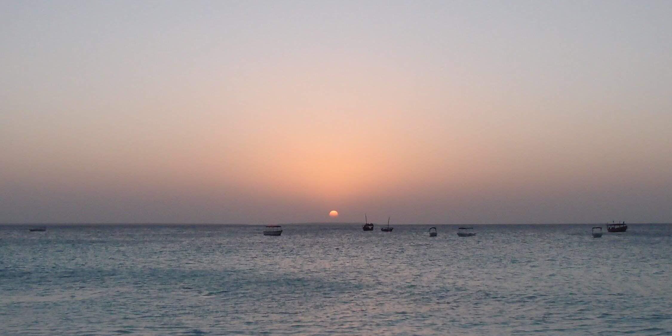 Sunset at Nungwi ヌングイでの夕陽