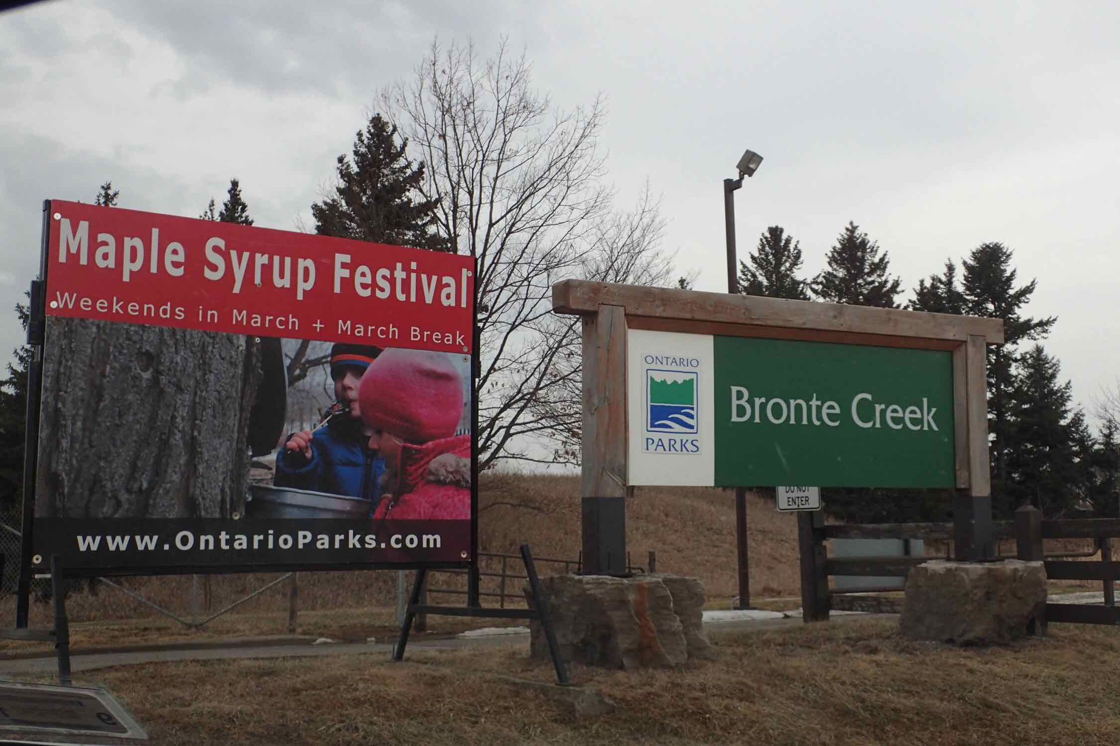 Maple Syrup Festival at Bronte Creek Provincial Park