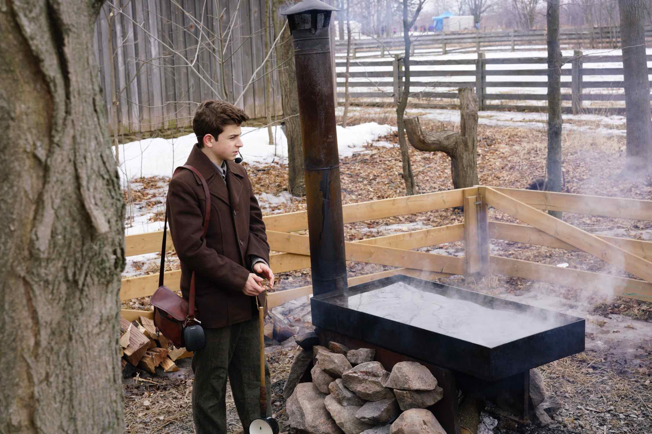 Maple syrup evaporator (100 years ago)